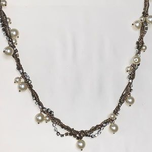 J. Crew Intertwined Faux Pearl Necklace